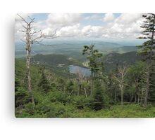 Climbing up Canon Mountain looking at Echo Lake Canvas Print