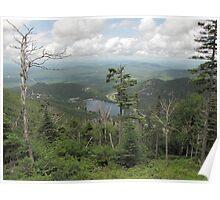 Climbing up Canon Mountain looking at Echo Lake Poster