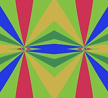 Rainbow rays abstract design by lalylaura