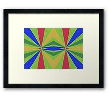 Rainbow rays abstract design Framed Print