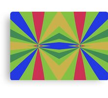 Rainbow rays abstract design Canvas Print