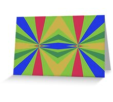 Rainbow rays abstract design Greeting Card