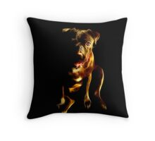 Puggylicious Fractalius Throw Pillow