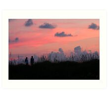 Watching Sunset Art Print