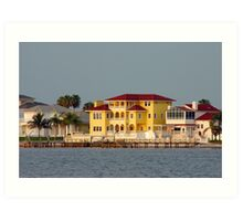 Waterfront homes Art Print