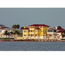 Waterfront homes Photographic Print