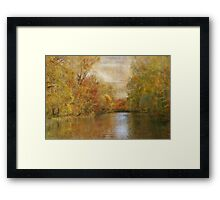 A Lazy River Ride in Fall Framed Print