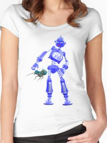Pesky Critters .. a robots tale Women's Fitted Scoop T-Shirt