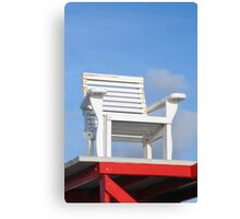 Life Guard Chair Canvas Print