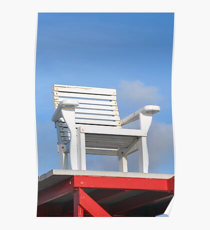Life Guard Chair Poster