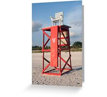 Lifeguard Chair Greeting Card