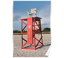Lifeguard Chair Poster