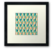 Shapes pattern Framed Print