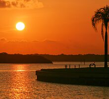 Boca Ciega Bay Sunrise by kinz4photo
