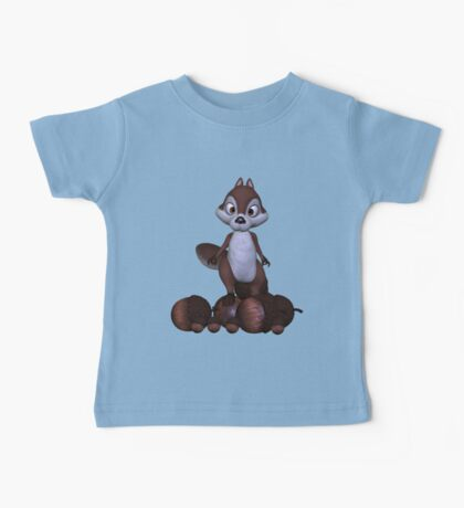 Nutty .. cute squirral Baby Tee
