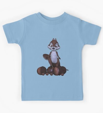 Nutty .. cute squirral Kids Tee
