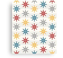 Colorful Wheel Stripes Nautical Pattern Canvas Print