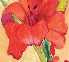 Orange Gladiola by Marsha Woods