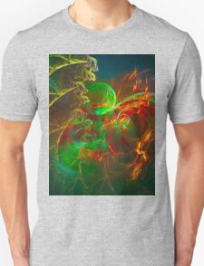 Green Pear - Colorful Digital Abstract Art  Unisex T-Shirt