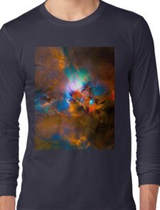 Hanging in the balance of reality - Colorful Digital Abstract Art  Long Sleeve T-Shirt