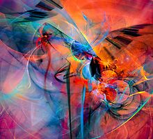The Great Adventure- Colorful Digital Abstract Art  by gp-art