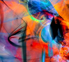 The Great Adventure- Colorful Digital Abstract Art  Sticker
