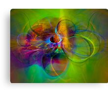 Hear the wind smile- Colorful Digital Abstract Art  Canvas Print