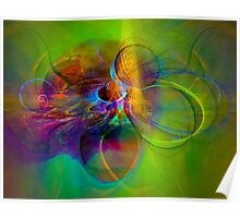 Hear the wind smile- Colorful Digital Abstract Art  Poster