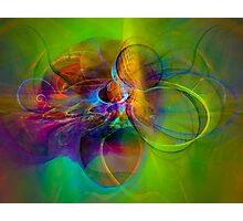 Hear the wind smile- Colorful Digital Abstract Art  Photographic Print