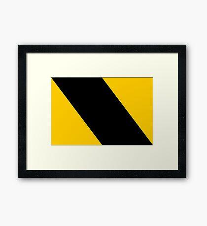 Go Right Framed Print