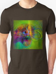 Hear the wind smile- Colorful Digital Abstract Art  T-Shirt