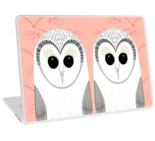 TWIN OWLS PORTRAIT Laptop Skin