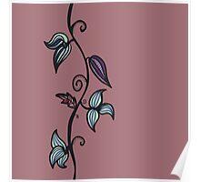 floral doodle Poster