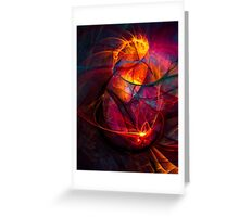 Heartbeat Warmth- Colorful Digital Abstract Art  Greeting Card