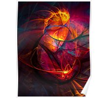 Heartbeat Warmth- Colorful Digital Abstract Art  Poster
