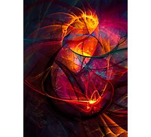 Heartbeat Warmth- Colorful Digital Abstract Art  Photographic Print