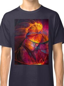 Heartbeat Warmth- Colorful Digital Abstract Art  Classic T-Shirt