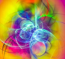 Hug- Colorful Digital Abstract Art  by gp-art