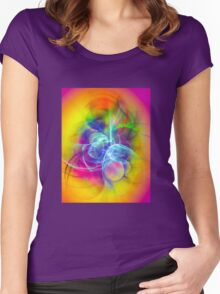 Hug- Colorful Digital Abstract Art  Women's Fitted Scoop T-Shirt