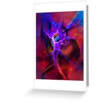 Icarus- Colorful Digital Abstract Art Greeting Card