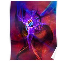 Icarus- Colorful Digital Abstract Art Poster