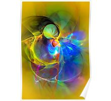 Ice Skater- Colorful Digital Abstract Art Poster