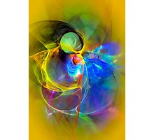 Ice Skater- Colorful Digital Abstract Art Photographic Print
