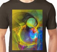 Ice Skater- Colorful Digital Abstract Art Unisex T-Shirt