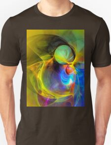 Ice Skater- Colorful Digital Abstract Art T-Shirt