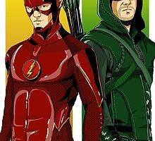 Flash/Arrow  by averagejoeart