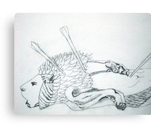 Dying Lion Canvas Print