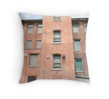 Tower, Stormont Mill, Cornwall, Ontario Throw Pillow