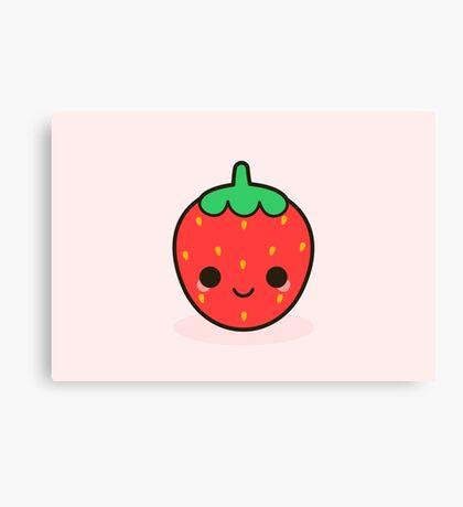 Cute strawberry Canvas Print
