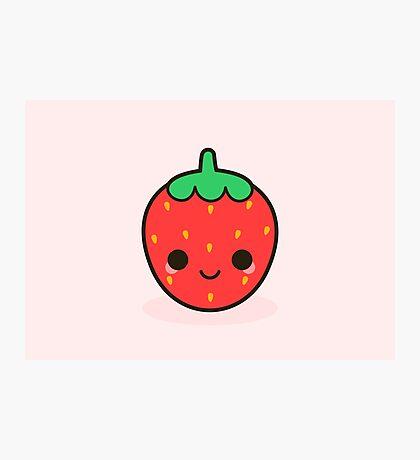 Cute strawberry Photographic Print